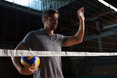 Volleyball player looking away Royalty Free Stock Photography