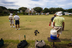 Bowls Players Competiton Green Royalty Free Stock Image