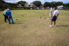 Bowls Playing Competiton Royalty Free Stock Photo