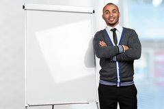 male pointing to whiteboard royalty free stock photos