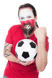 Male polish soccer fan Royalty Free Stock Photo
