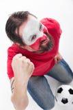 Male polish soccer fan Stock Images