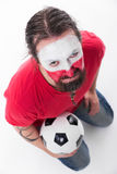 Male polish soccer fan Royalty Free Stock Images