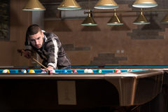 Male Pool Player Stock Images
