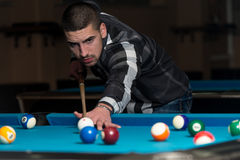 Male Pool Player Royalty Free Stock Photo