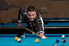 Male Pool Player Stock Photography