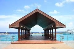 Male port och docks på en ljus dagmorgon Royaltyfria Foton
