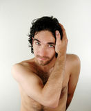 Male portrait. A male portrait in nude royalty free stock photography