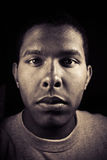 Male Portrait. Portrait of an average teenage African American Royalty Free Stock Image
