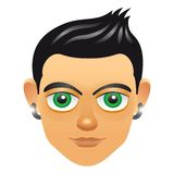 Male portrait avatar icon with boy face Stock Image