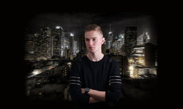 Male portrait city background Royalty Free Stock Photography