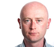Male portrait close up on white backdrop. Photo male portrait close up on white backdrop stock photo