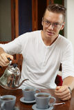 Male portrait on the kitchen Royalty Free Stock Photography