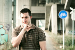 Male portrait outdoor Royalty Free Stock Photography
