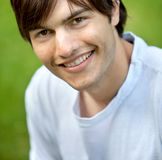 Male portrait outdoors Stock Photography