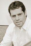 Male portrait in sepia Stock Image