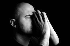 Male prays Stock Image