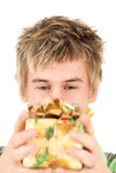 Male with present Stock Photo