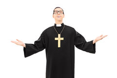 Male priest looking up Stock Photography