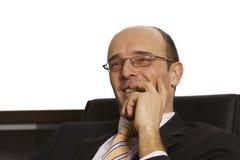 Male professional enjoying Stock Images
