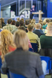 Male Professional Lecturer Speaking In front of the People Royalty Free Stock Photo