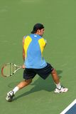 Male Professional Tennis Player Backhand Royalty Free Stock Photo