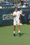 Male Professional Tennis Player Forehand Stock Image