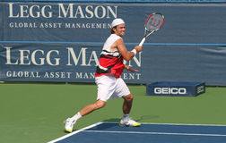 Male Professional Tennis Player Forehand Stock Photography