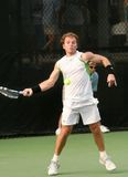 Male Professional Tennis Player Forehand Stock Photo