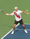 Male Professional Tennis Player Forehand Royalty Free Stock Image