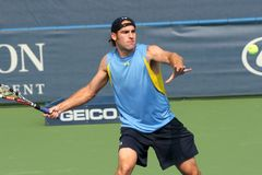Male Professional Tennis Player Forehand Royalty Free Stock Photography