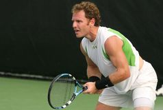 Male Professional Tennis Player Return Royalty Free Stock Photo
