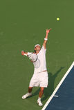 Male Professional Tennis Player Serve Royalty Free Stock Photography