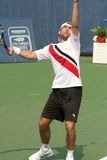 Male Professional Tennis Player Serve Royalty Free Stock Images