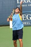 Male Professional Tennis Player Serve Stock Images