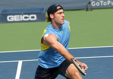 Male Professional Tennis Player Volley Stock Images