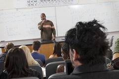 Male Professor Teaching Students Royalty Free Stock Images