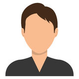 Male profile avatar with brown hair Stock Photos
