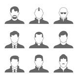 Male Profile Icons Royalty Free Stock Image