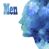 Male profile Royalty Free Stock Photography