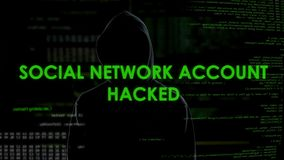 Male programmer hacking social network account from home office, privacy attack. Stock footage stock footage