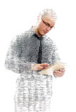Male programmer with tablet pc Royalty Free Stock Photography