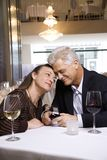 Male proposing to female Stock Photo