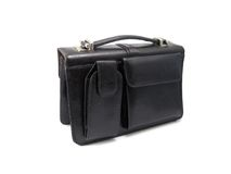 Male purse. Isolated over white Royalty Free Stock Images