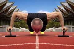 Male pushups Stock Image