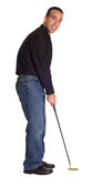 Male Putter Royalty Free Stock Image