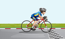 A male racer. Illustration of a male racer Royalty Free Stock Image