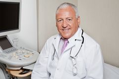 Male Radiologist Smiling stock images