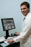Male radiologist at work Stock Photography