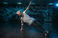 Male rapper in dance studio, trendy lifestyle Royalty Free Stock Images